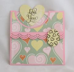 """Love You"" Flap Fold Card"